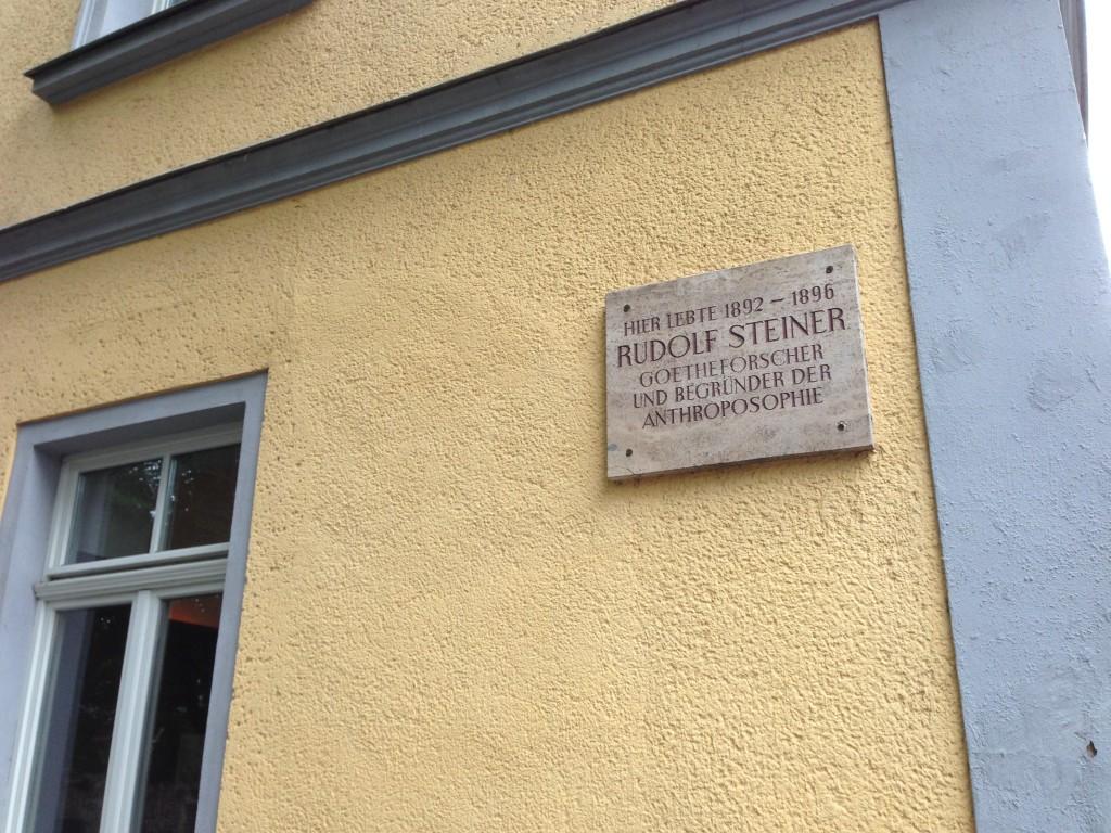 Waar Goethe was, was ook Steiner.